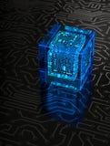 Cubo abstracto del circuito Imagen de archivo