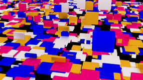 Cubo abstracto del color de fondo  Imagen de archivo