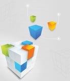 Cubo abstrato Foto de Stock Royalty Free