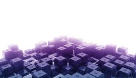 Cubo abstrato na névoa Imagens de Stock