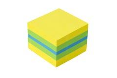 Cubo aislado en un fondo blanco Imágenes de archivo libres de regalías