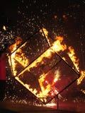 Cubo ardiente Foto de archivo