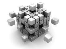 Cubo astratto Fotografie Stock
