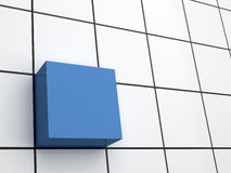 Cubo astratto 3d Fotografia Stock