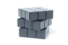 Cubo in bianco del rubik Immagini Stock