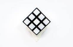 Cubo blanco Imagenes de archivo