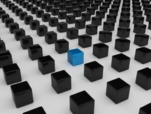 Cubo blu differente Fotografia Stock Libera da Diritti