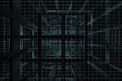 cubo blu scuro 3D Immagini Stock
