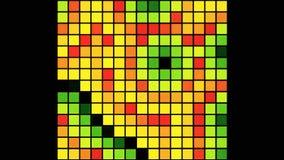 Cubo colorido de Awa ilustração stock
