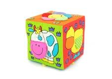 Cubo colorido del juguete fotografía de archivo