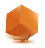 Cubo com seta Foto de Stock