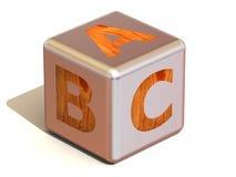 Cubo con el ABC. Alfabeto. Fotografía de archivo libre de regalías