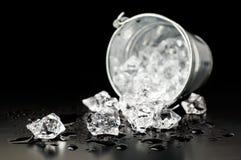 Cubo con hielo Foto de archivo