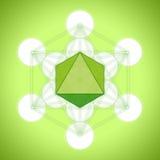 Cubo con i solidi platonici - ottaedro del ` s di Metatron Immagini Stock Libere da Diritti