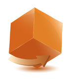 Cubo con la freccia Fotografia Stock