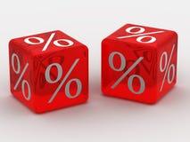 Cubo con le percentuali Fotografia Stock Libera da Diritti