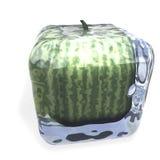 Cubo congelato anguria Fotografia Stock Libera da Diritti