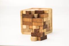 Cubo construído dos blocos Fotografia de Stock