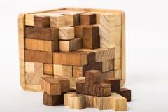 Cubo construído dos blocos Imagem de Stock