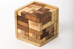 Cubo construído dos blocos Imagens de Stock Royalty Free