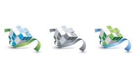 Cubo 3D Fotografia Stock