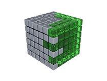 cubo 3D - isolato Immagine Stock