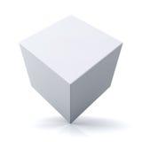 cubo 3d ou caixa no fundo branco Fotos de Stock Royalty Free
