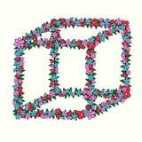 Cubo da flor, vetor ilustração royalty free