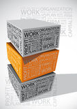 Cubo da palavra do negócio Fotos de Stock