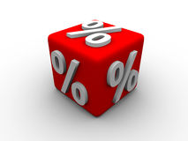 Cubo da porcentagem Foto de Stock