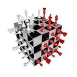 Cubo da xadrez ilustração royalty free