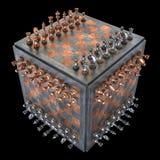 Cubo da xadrez Foto de Stock Royalty Free