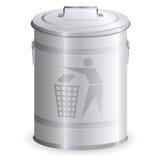 Cubo de basura del metal Stock de ilustración