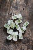 Cubo de gelo da hortelã Fotografia de Stock Royalty Free