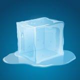 Cubo de gelo de derretimento ilustração do vetor