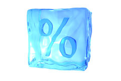Cubo de gelo de derretimento Imagens de Stock Royalty Free