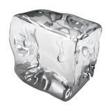 Cubo de gelo opaco com gotas da água ilustração royalty free