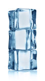 Cubo de gelo três transparente Foto de Stock