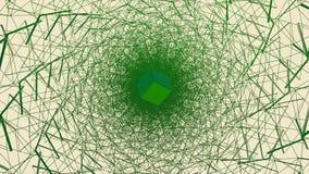 Cubo de giro no túnel do fio ilustração do vetor