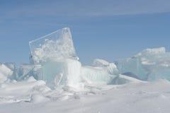 Cubo de hielo Fotografía de archivo libre de regalías