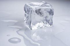 Cubo de hielo Imágenes de archivo libres de regalías