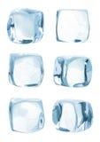 Cubo de hielo aislado Imagen de archivo libre de regalías