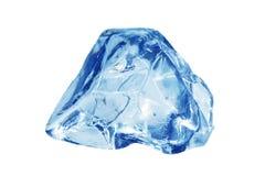 Cubo de hielo azulado Foto de archivo libre de regalías