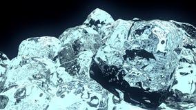 cubo de hielo 3D fotografía de archivo