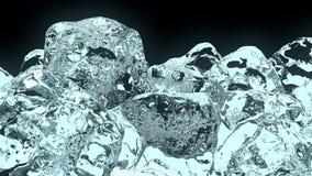 cubo de hielo 3D fotos de archivo libres de regalías