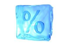 Cubo de hielo de fusión Imágenes de archivo libres de regalías