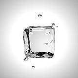 Cubo de hielo del vector EPS10 Fotos de archivo