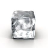 Cubo de hielo en el fondo blanco Foto de archivo