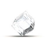 Cubo de hielo en el fondo blanco Imagenes de archivo
