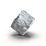 Cubo de hielo en el fondo blanco Fotos de archivo